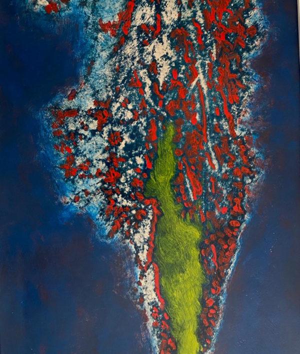 Rote Chilis schwimmen im Meer